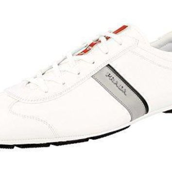 Prada Men's 4e2599 6dt F0z6k Leather Sneaker