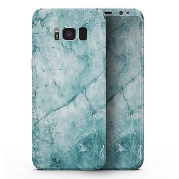 Cracked Turquise Marble Surface - Samsung Galaxy S8 Full-Body Skin Kit