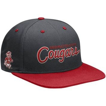 Nike Washington State Cougars Vault Snapback Adjustable Hat - Gray/Crimson