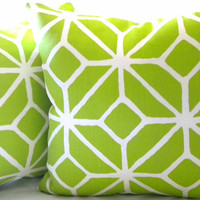 Trina Turk Trellis Bright Apple Green pillow cover 20 x 20