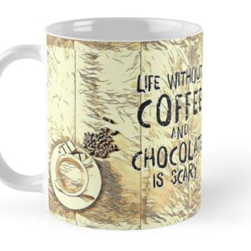 'Coffee and Chocolate' Mug by Naumovski