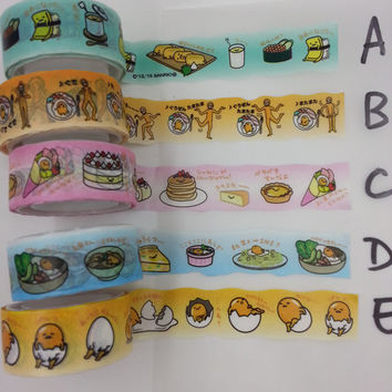 Limited Edition : Gutdetma Irregular Shape 5 Washi Tapes 3 feet sample - perfect for weekly planner