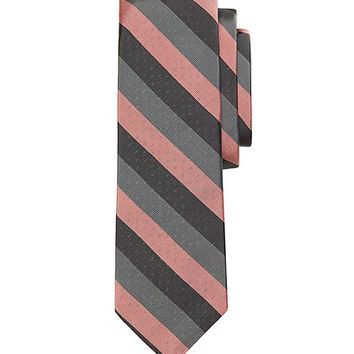 Grey and Pink Stripe Tie - Brooks Brothers