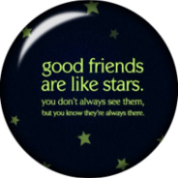 Snap button stars Good friends are like stars 18mm Cabochon chunk charm