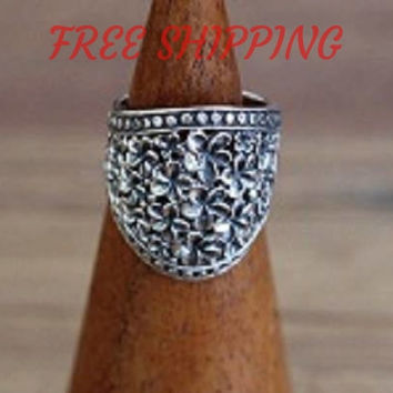 FREE SHIPPING - Filigree Swirl Oval Ring, Sterling Silver Ring, gifts for her, 925 Silver Jewellery, Filigree Ring, Statement Jewelry