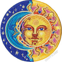Sun Moon & Stars Moon & Sun Patch on Sale for $5.99 at HippieShop.com
