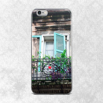 Shabby Chic iPhone 7 Case, French Quarter Phone Case, iPhone 6 Plus, New Orleans iPhone 6S Cover, Colorful Phone Case, Gift for Her