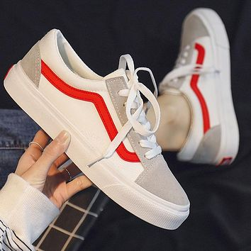 Vance low-top classic canvas shoes couple sneakers tide 2020 shoes White Grey