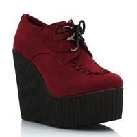 creeper-platform-wedges BLACK OXBLOOD - GoJane.com