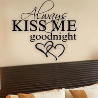 Kiss Me Love DIY Removable Wall Sticker Home Decoration Bed Bedroom Vinyl Decal