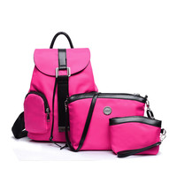 Rose pink nylon set bags Black blue Waterproof leather Shoulder Bags Small cross body bag purses sapphire composite bag XA49YL