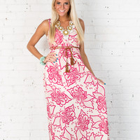 Summer Bloom Maxi Dress Pink