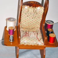 Handmade Vintage Pin Cushion Rocking Chair, Handmade Novelty Rocking Chair Sewing Accessory Holder