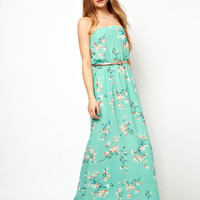 Jarlo Belted Maxi Dress in Floral Print