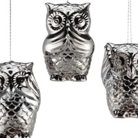 3 Wise Owls Ornament | Ornaments | Holiday | Gifts | Z Gallerie