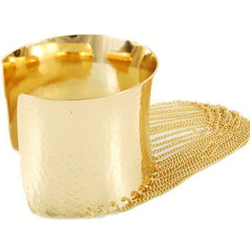 Gold Plated Chain Cuff