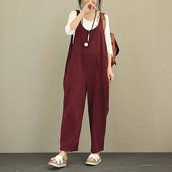 Casual Loose Overall Jumpsuits