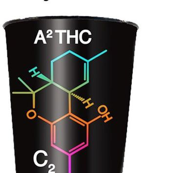 36oz HIGHLY Educated OFFICIAL Trademarked Psychoactive THC Molecule PREMIUM Tumbler Stadium Cup (BPA Free)