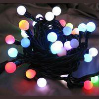 Multi-color G15 Berry Christmas Lights - 25 Twinkling Bulbs On Green Wire