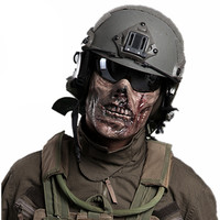 CS Cosplay M05 Horror Skull Zombie airsoft mask Plastic Half Face paintball Mask Hallowmas Horrible Party Masks for Halloween