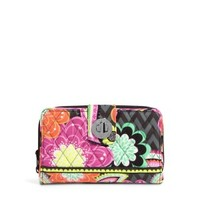Vera Bradley Ziggy Zinnia Turn Lock Wallet