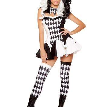 Roma RM-10044 4pc Devious Jester Women's Costume