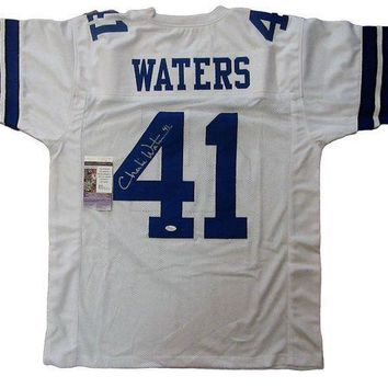 ESBONY Charlie Waters Signed Autographed Dallas Cowboys Football Jersey (JSA COA)