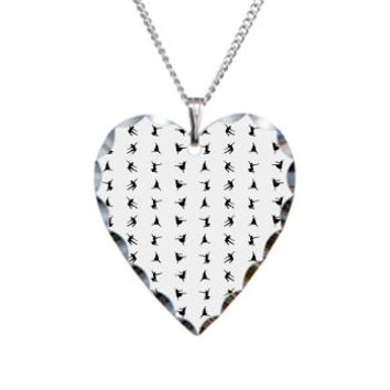 Mini Dancers Necklace Heart Charm