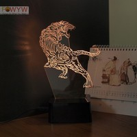 3D Tiger night light