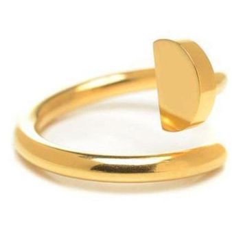 DCCKNQ2 Cartier Woman Fashion Plated Adjustable Ring For Best Gift-1