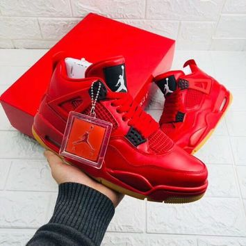 Air jordan 4 sports shoes men and women china red