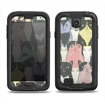 The Vintage Cat portrait Samsung Galaxy S4 LifeProof Fre Case Skin Set