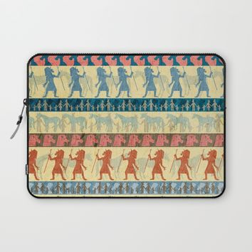 Egyptian Unicorn Pattern Laptop Sleeve by That's So Unicorny