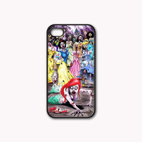 Princess Zombie Print on Hard Plastic And Rubber for iPhone 4/4s/5, Samsung Galaxy S3/S4 & iPod 4/5 Case. Choose the option