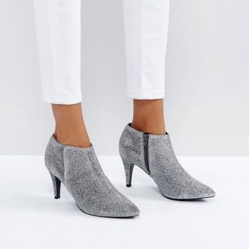 New Look Glitter Heeled Boot at asos.com
