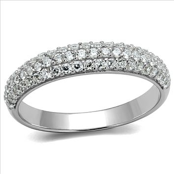 A Perfect 1.57TCW Round Cut Russian Lab Diamond Eternity Ring