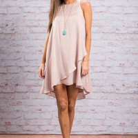 Wait And See Dress, Blush