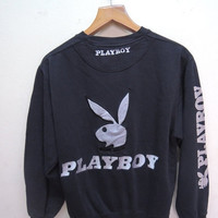 25% SALES ALERT Vintage 90's PB By Playboy Big Embroidery Logo Sweatshirt Street Wear Urban Fashion Size L