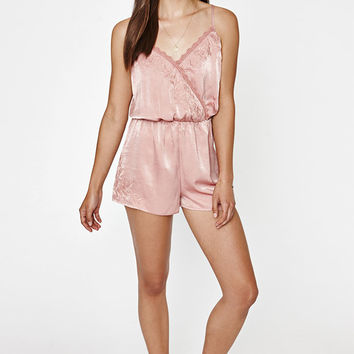 Kendall and Kylie Surplice Embroidered Romper at PacSun.com