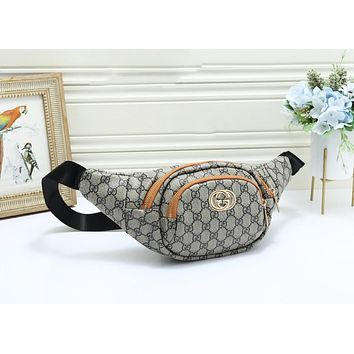 GUCCI Fashion New More Letter Print Leather Shopping Leisure Shoulder Bag Women