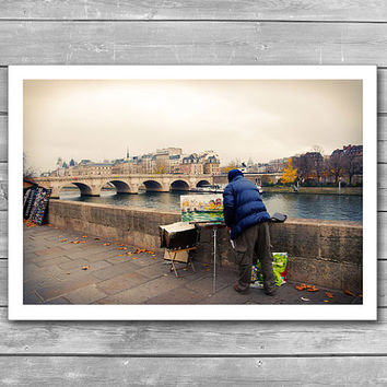 Paris Autumn Landscape, Autumn in Paris, Autumn City, Paris Photography, Fall Time, Interior Prints, France Photo Print, Photoart