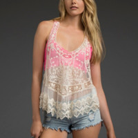 Crochet Lace Racerback Top
