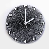 GREY WALL CLOCK, Unique Clock, office wall clock