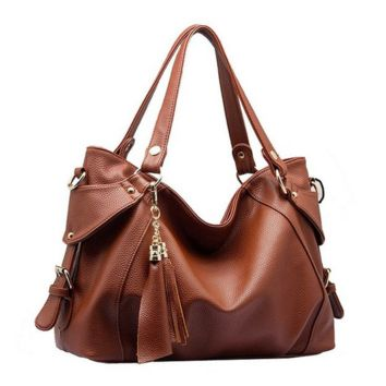 Women Retro Tassel Hobo Style Shoulder Handbags