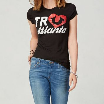 True Religion Atlanta Womens T-shirt - Black