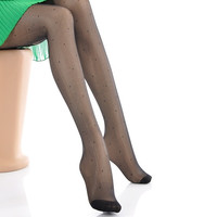 Women Sexy Silk Thin Stockings Pantyhose Leggings Tights Dots Pattern Black (Color: Black) = 1705630852