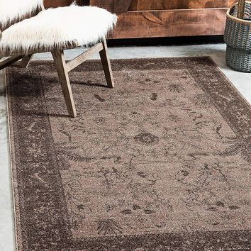 5121 Brown Oriental Area Rugs