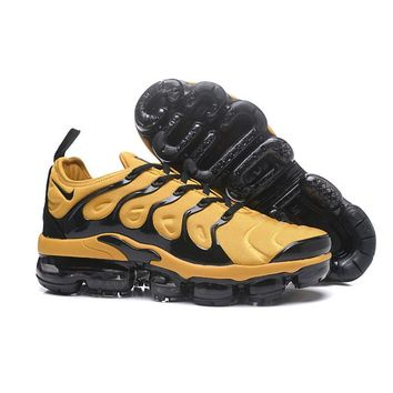 2018 Nike Air VaporMax Plus TN Yellow Black Sport Running Shoes - Best Online Sale