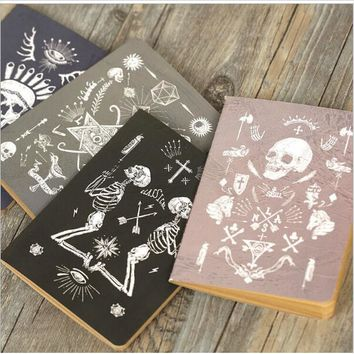 Vintage Pirate Skull Notebook