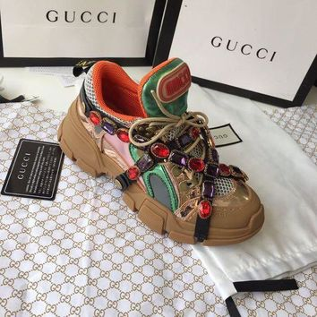 GUCCI Flashtrek sneaker with crystals-5